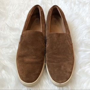 Frye Brown Suede Slip On Sneakers